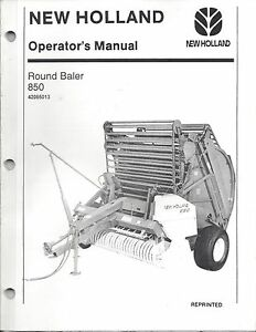 new holland 845 round baler manual