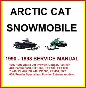 1998 arctic cat 300 4x4 service manual