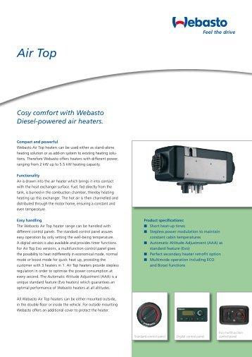 webasto air top 3500 manual