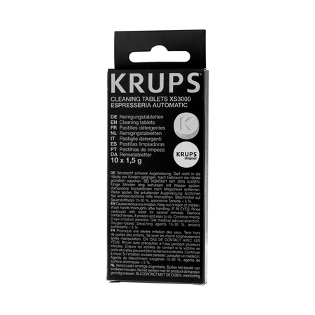 krups cleaning tablets xs3000 instructions