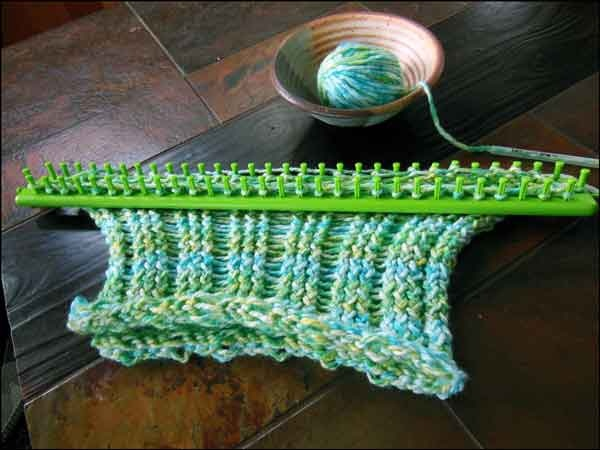 boye scarf loom instructions flat panel knitting