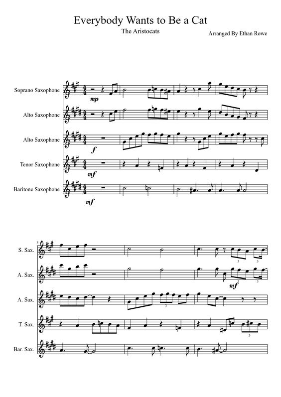 Everybody wants to be a cat sheet music pdf