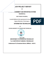 Online crime reporting system documentation