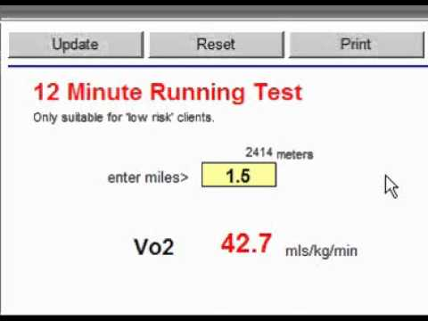 how to calculate vo2 max manually