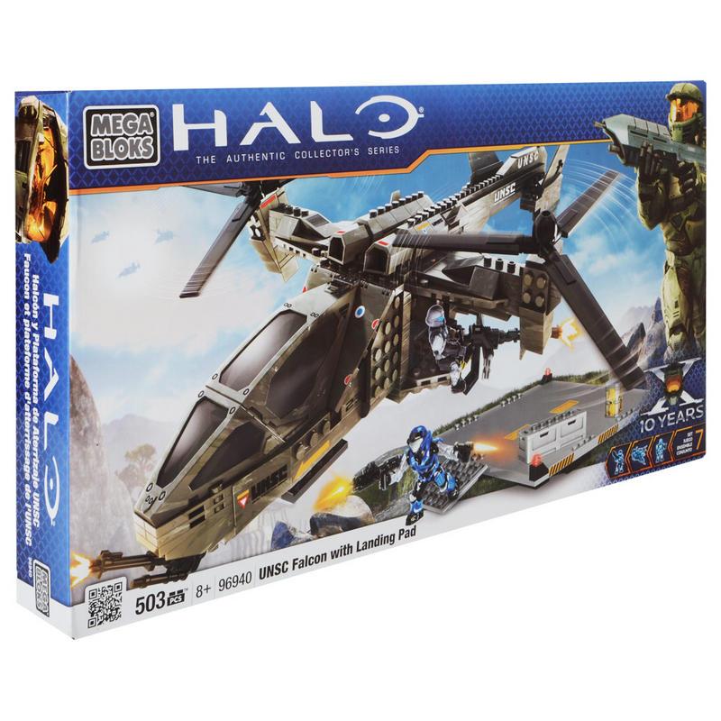 halo mega bloks falcon landing pad instructions