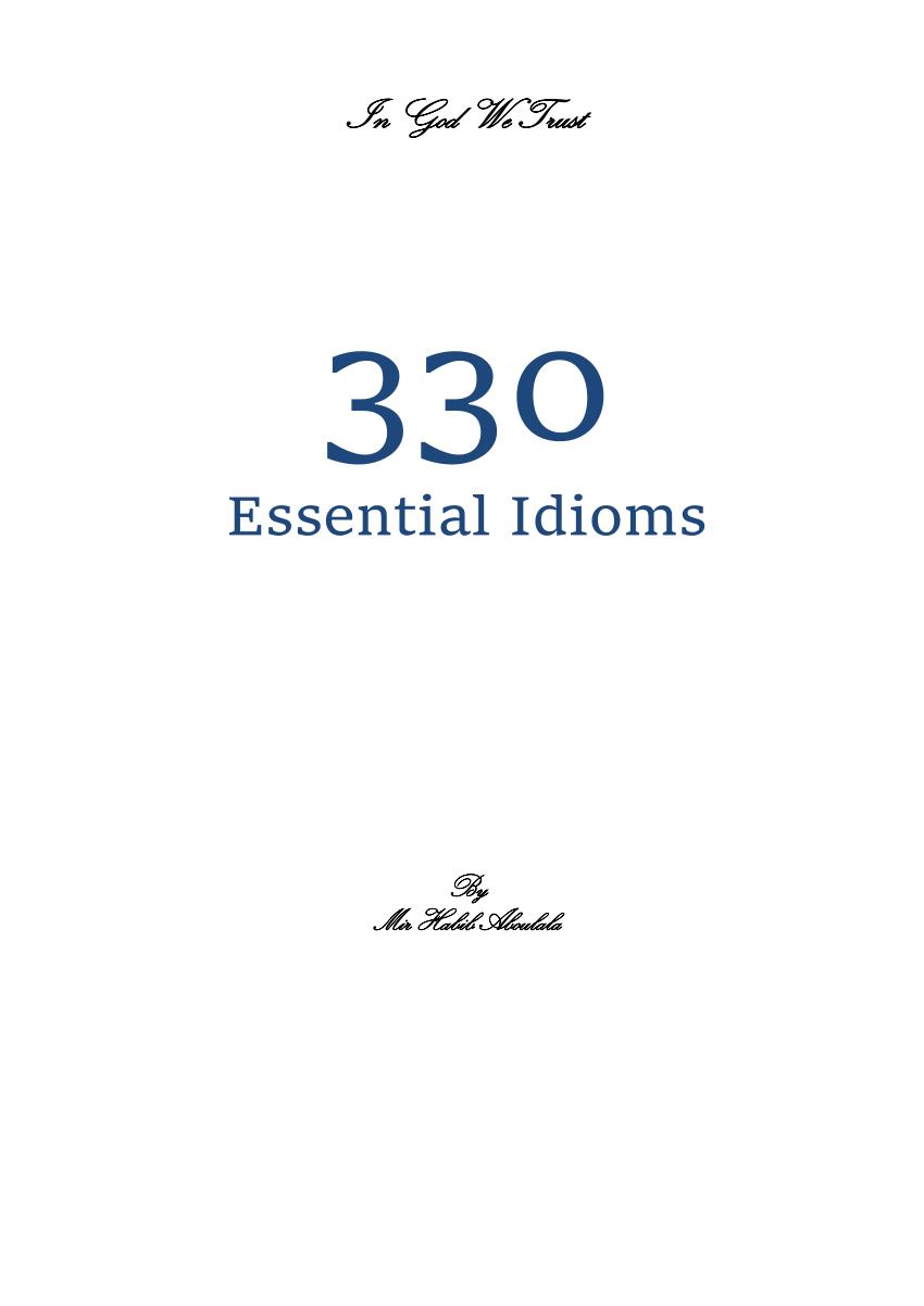 Essential idioms in english pdf