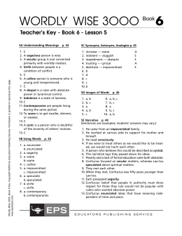 Wordly wise book 8 lesson 11 test pdf