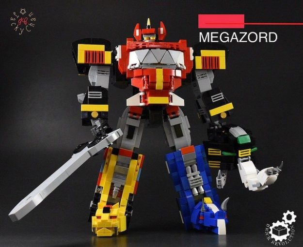 lego power rangers megazord instructions