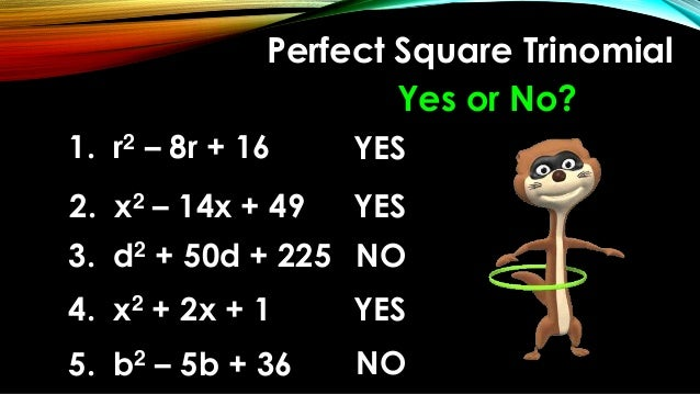 Define perfect square with example