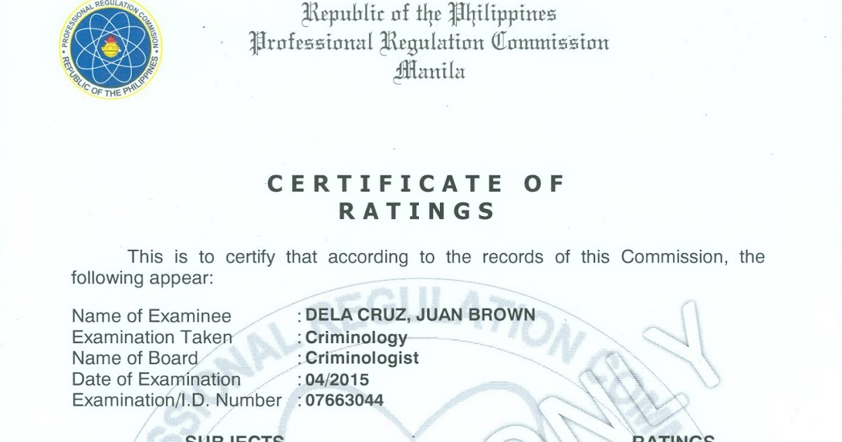 Certificate of good standing prc how to get