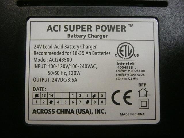 aci super power battery charger instructions