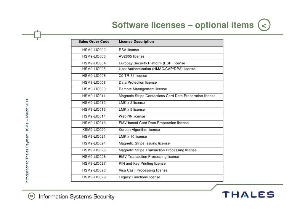 Thales hsm 9000 manual pdf