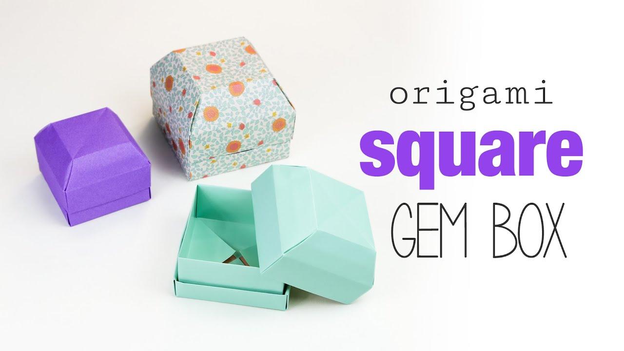 Origami ring box instructions
