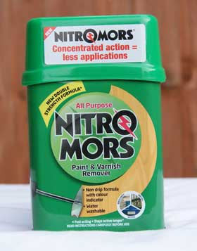 Nitromors paint remover instructions