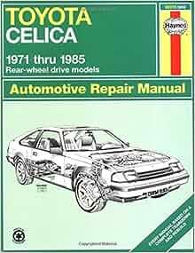 Toyota celica repair manual free download