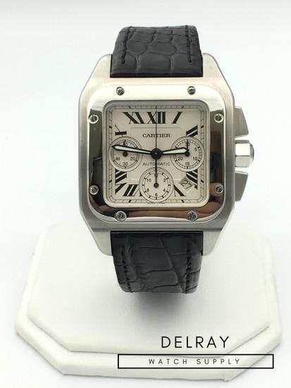 cartier santos 100 xl chronograph manual