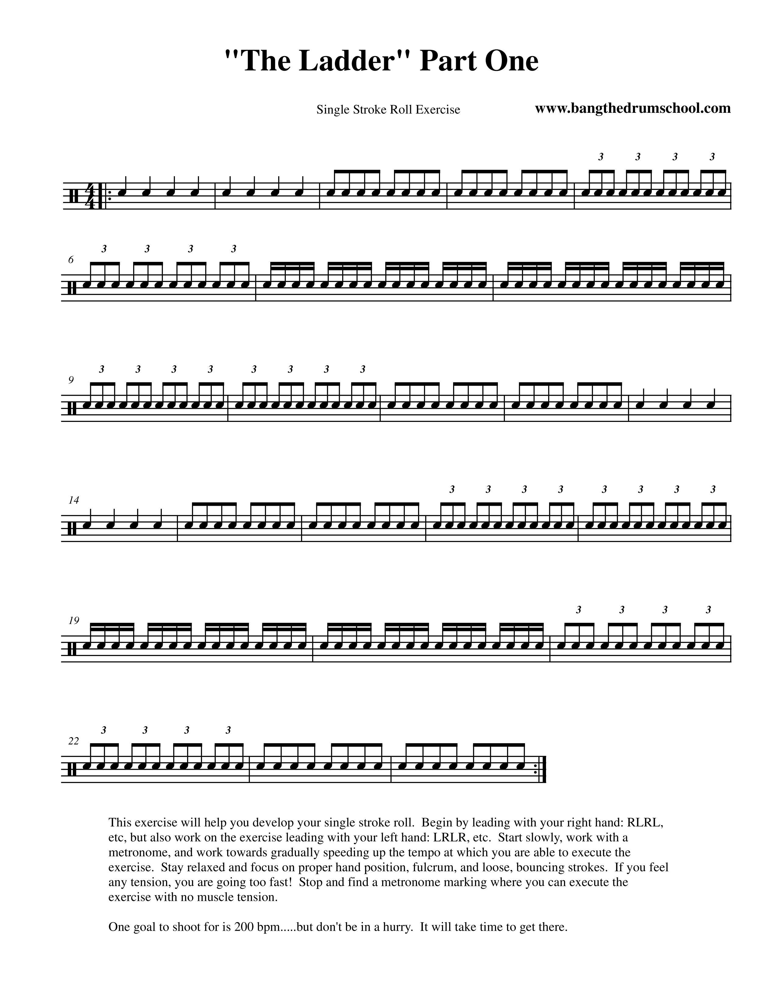 Single stroke roll exercises pdf