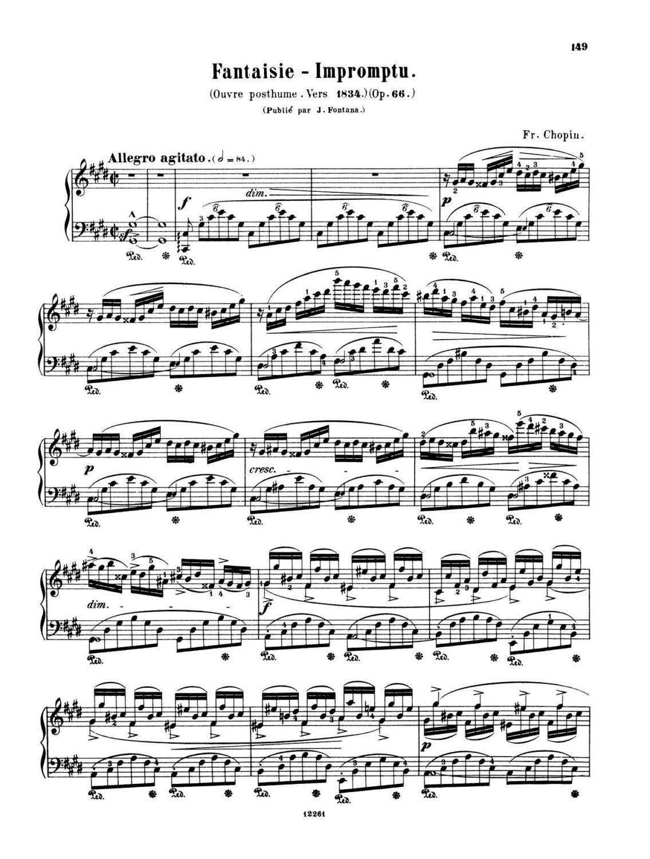 Fantasie impromtu pdf sheet music