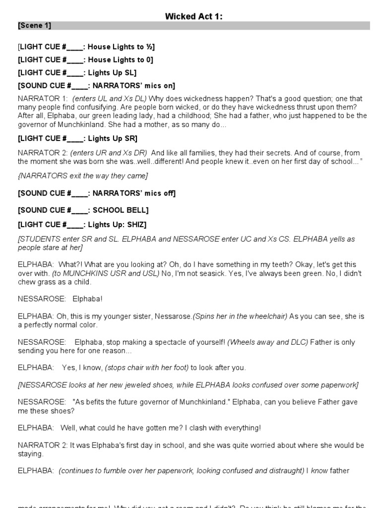 The wizard of oz musical script pdf