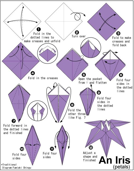 Origami instructions to print