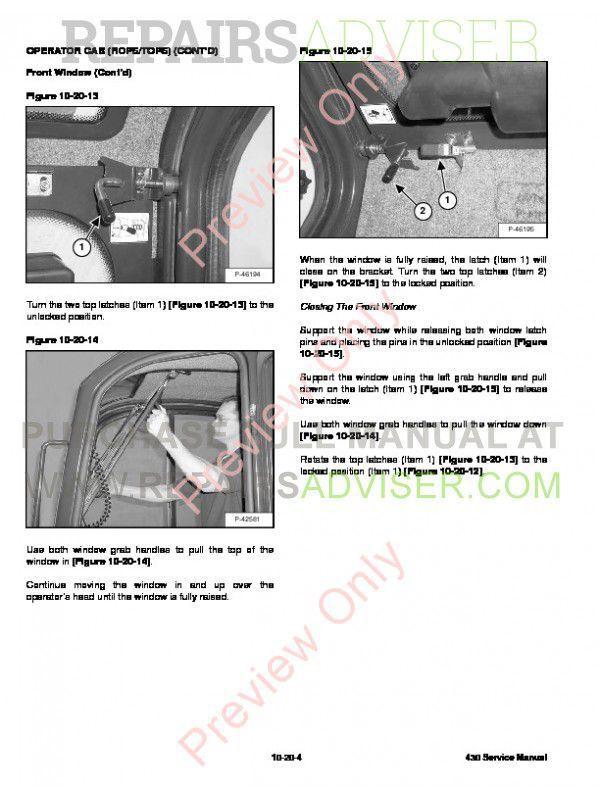 bobcat 430 service manual pdf