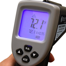 Mastercraft maximum infrared thermometer manual