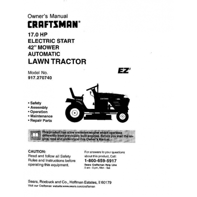 owners manual for craftsman lawn mower model 944-364760