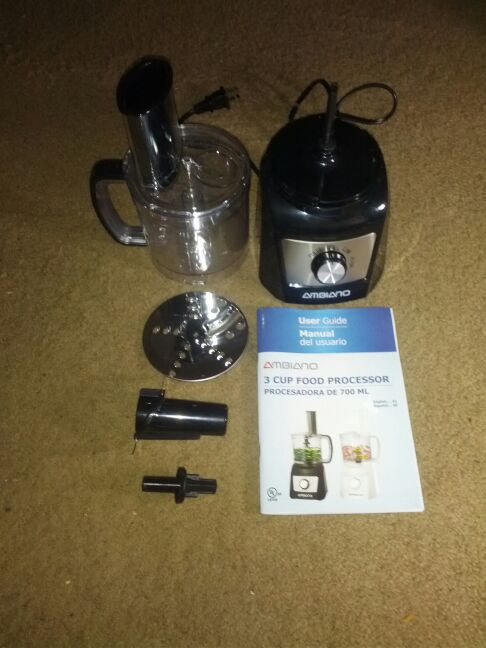 ambiano food processor instructions