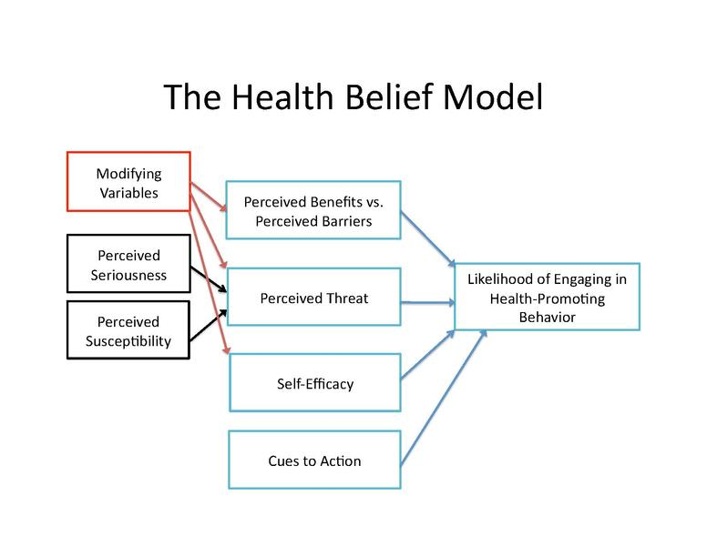 Application of the health belief model