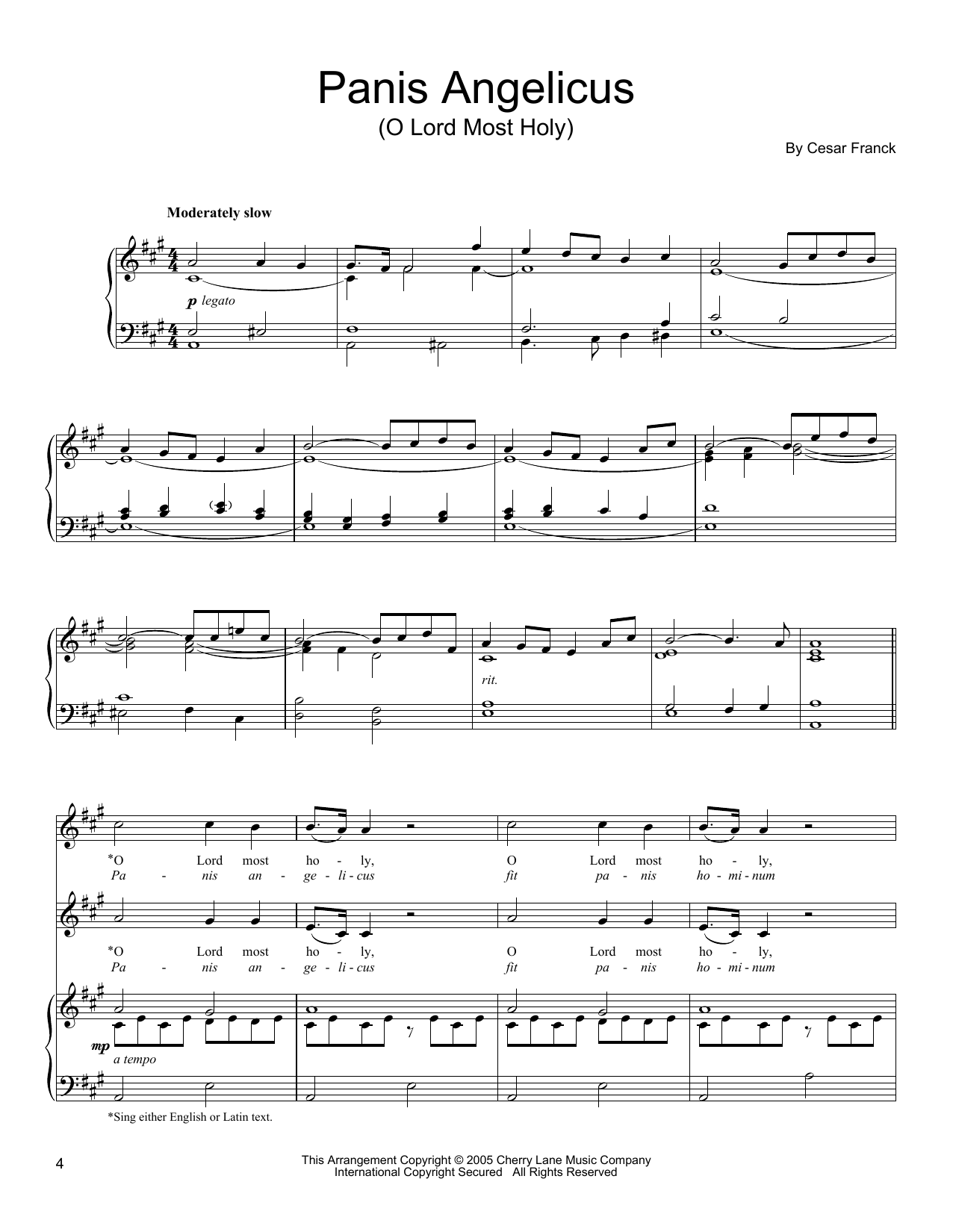 Panis angelicus piano solo pdf