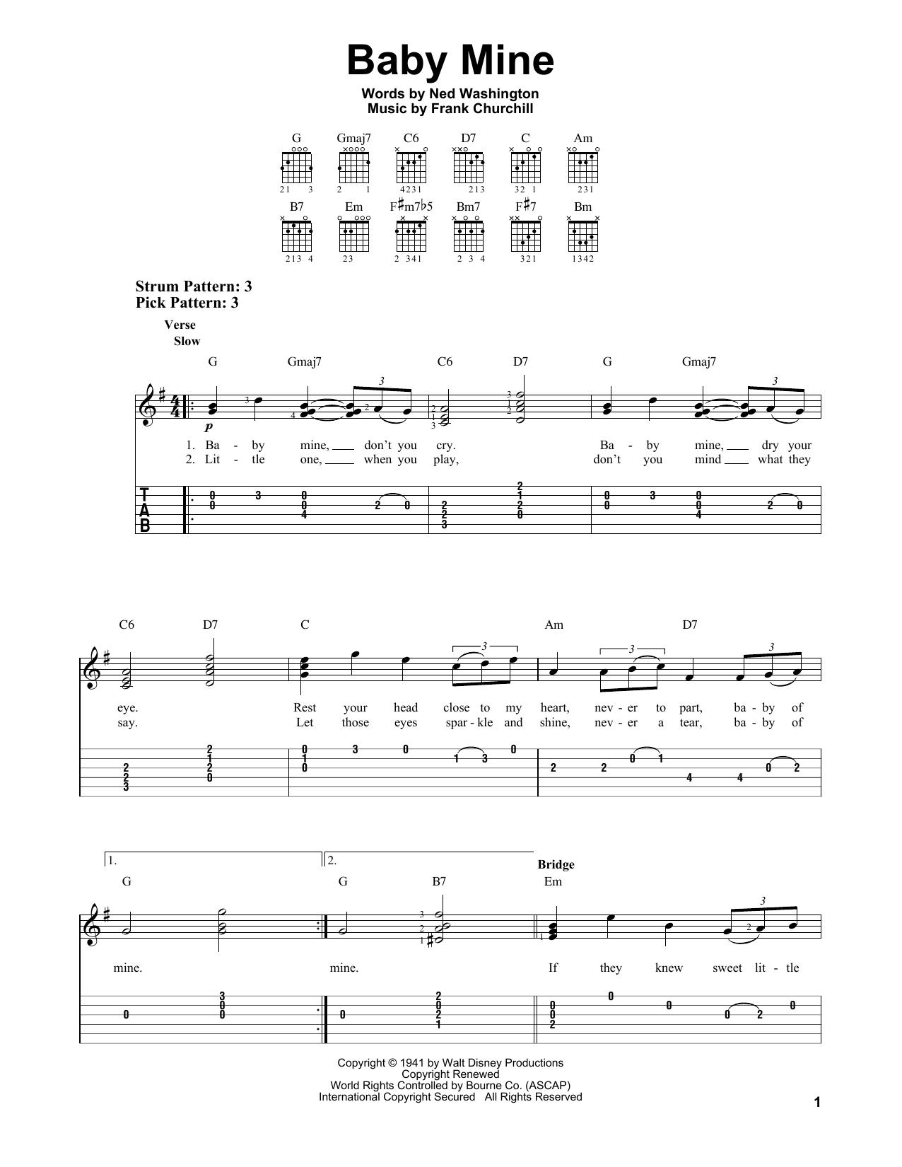 Baby mine dumbo sheet music pdf