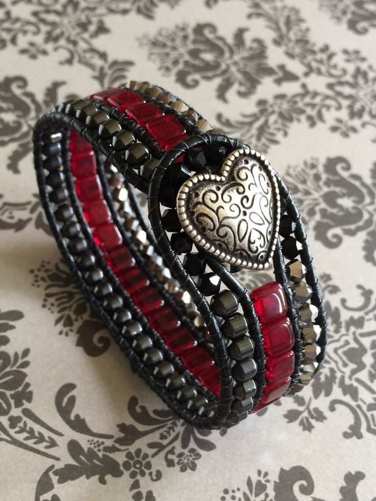 beaded leather cuff bracelet instructions