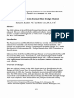 Cold formed steel design manual pdf