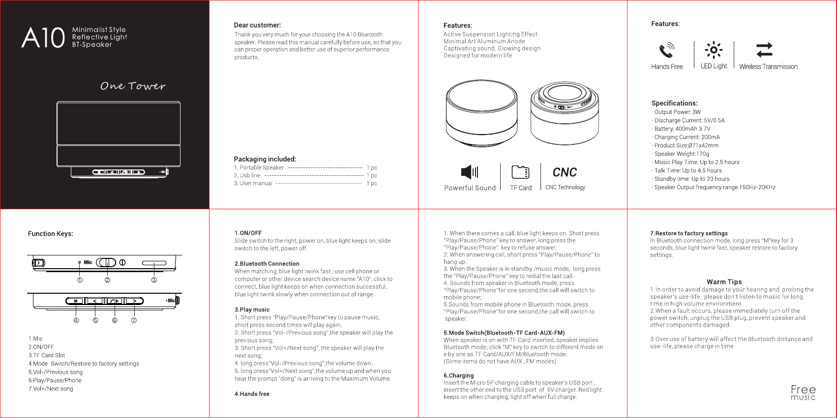 aptoyu bluetooth speaker instructions