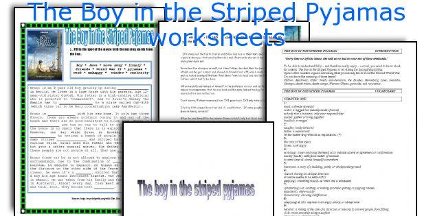 The boy in the striped pyjamas worksheet pdf