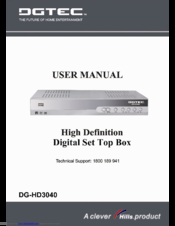 dgtec dg hd0390 user manual