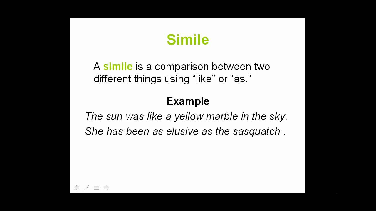 Example of simile used in a sentence