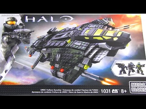 mega bloks halo unsc vulture gunship instructions