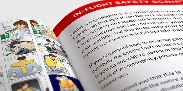 flight safety instructions script