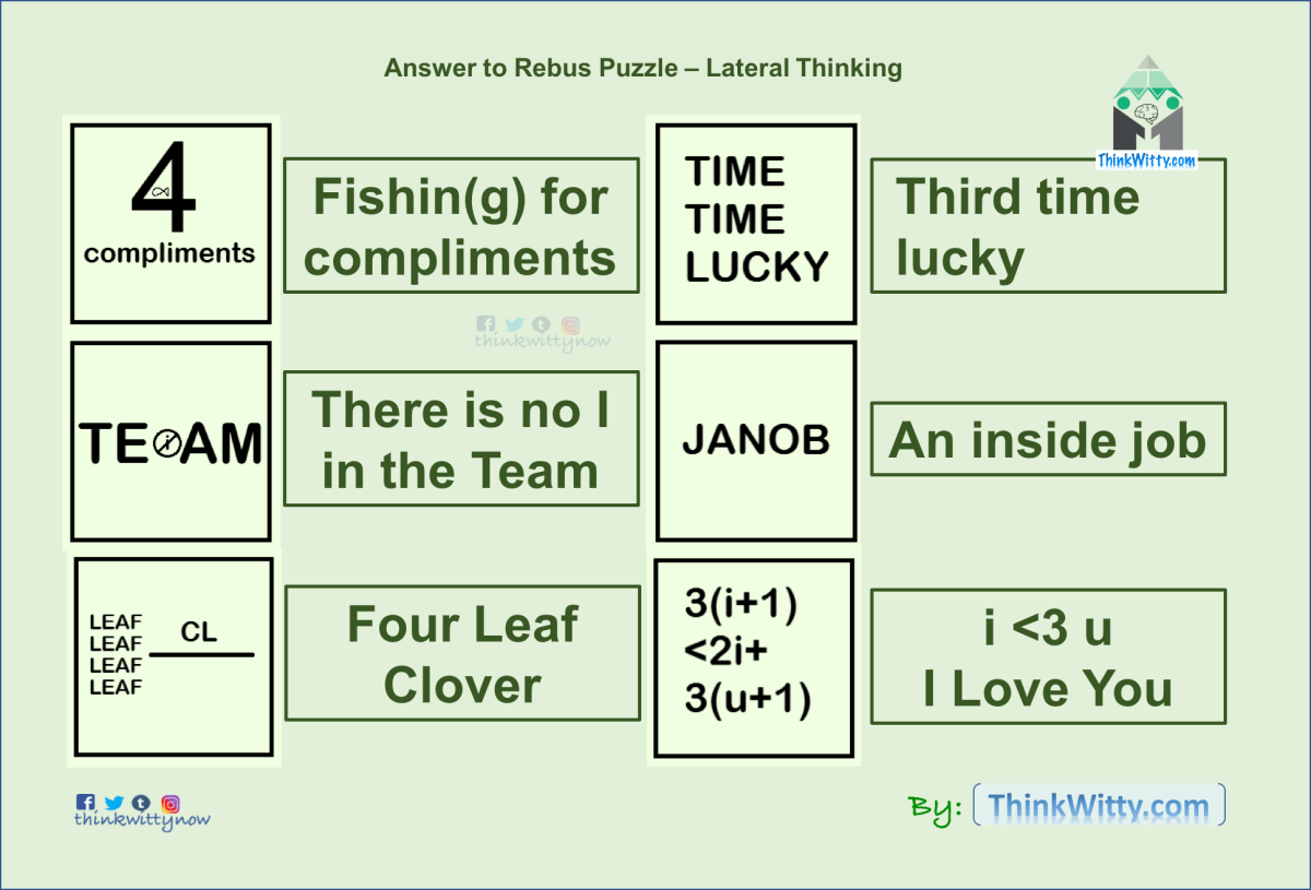 Lateral thinking questions and answers pdf
