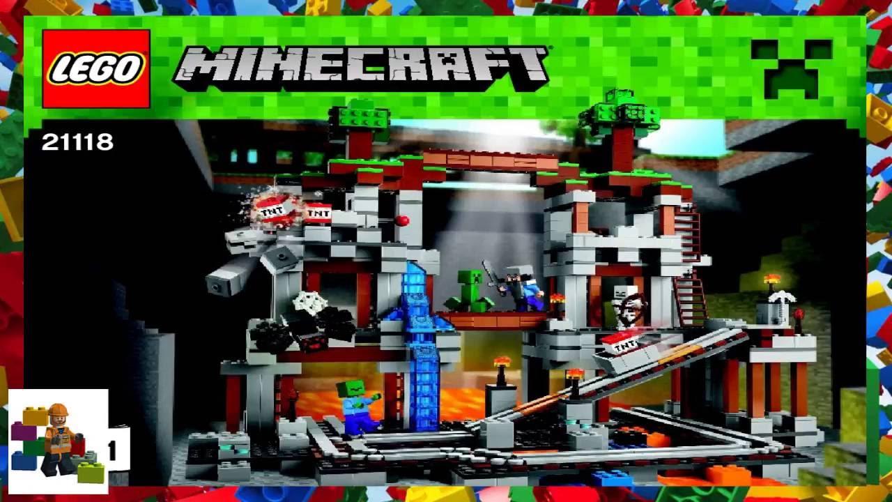 lego minecraft instructions the mine