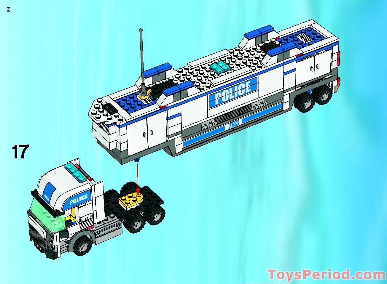 lego police truck instructions 7743