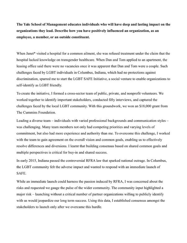 Mba personal statement sample pdf