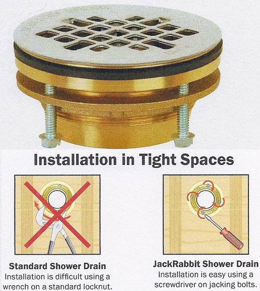 Oatey no caulk shower drain installation instructions