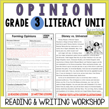 Opinion writing sentence starters pdf