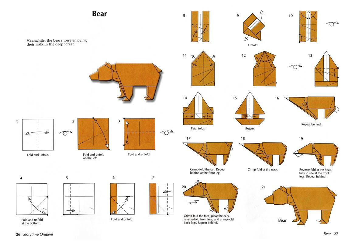origami lion instructions advanced