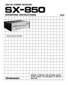 pioneer sx 255r owners manual
