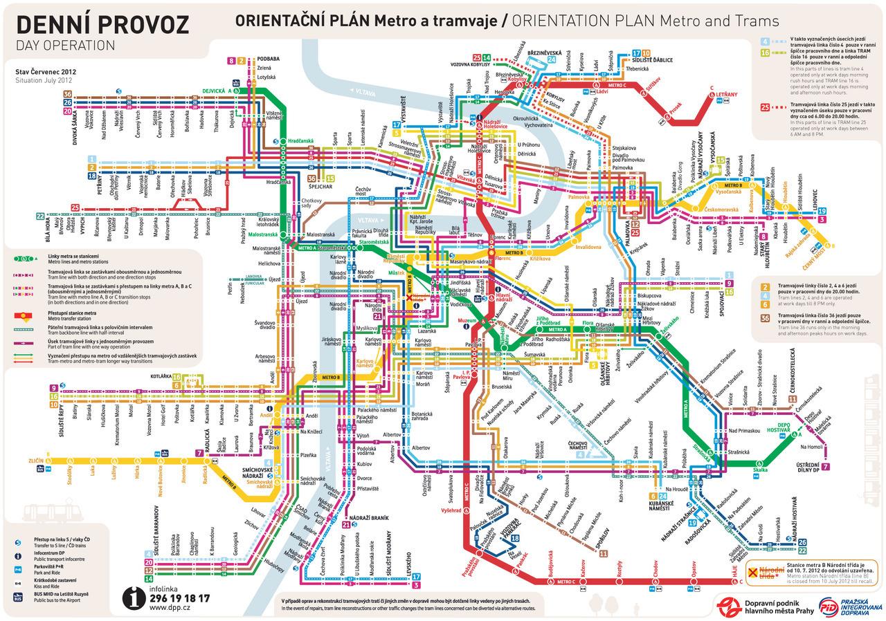 Prague metro map 2017 pdf