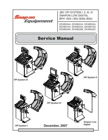 Snap on mg725 owners manual