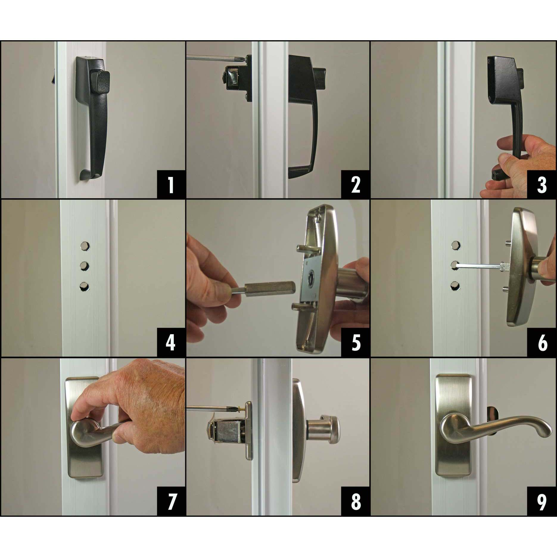 storm door latch installation instructions